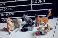 pvc figure Doll model toy pet cats Model 6pcs/set