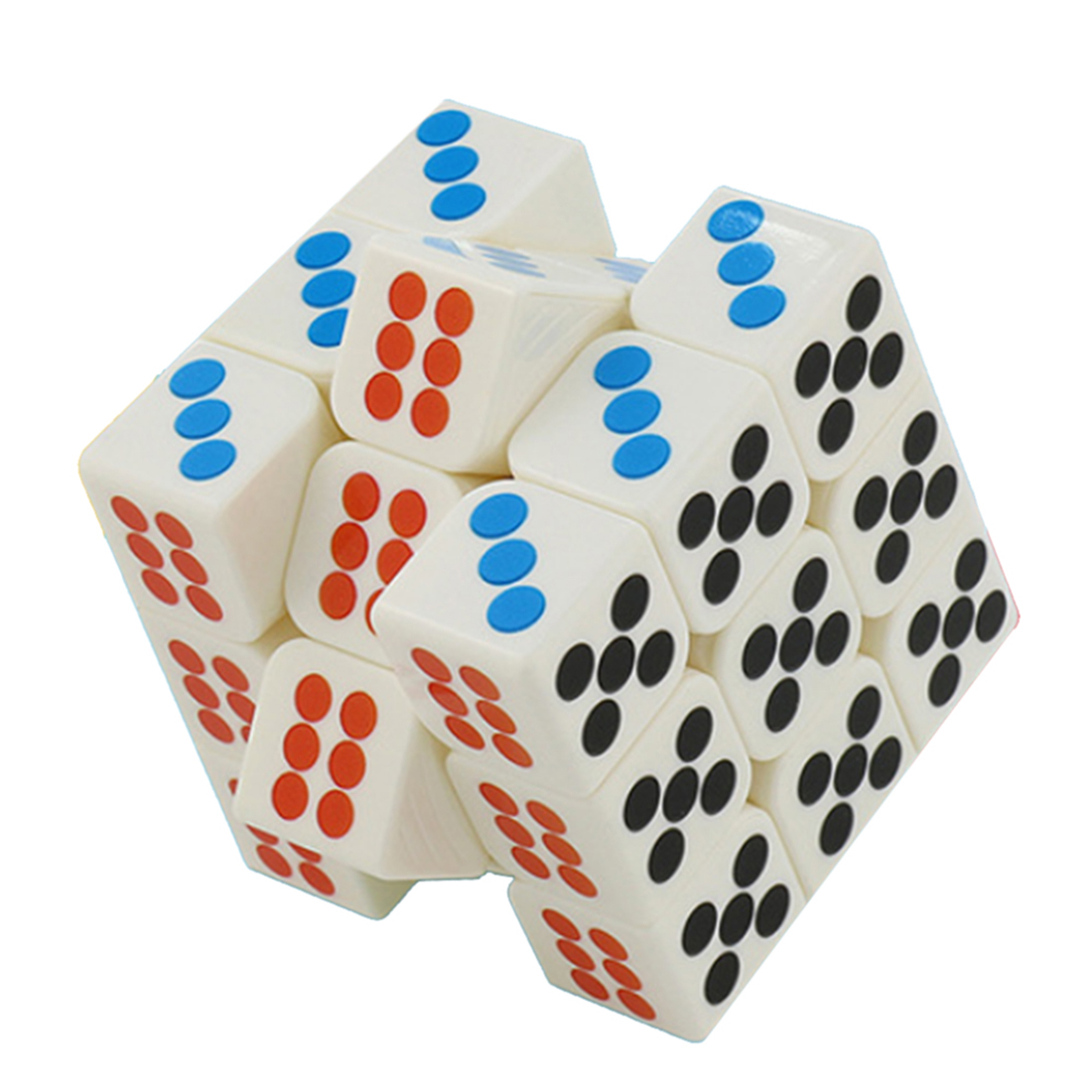 Cubing Classroom MF8827 Smooth 3x3x3 Dice Magic Cube Puzzle Toys For Pressure Reduction - Colorful