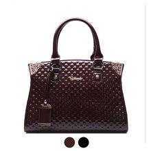 Große Glänzende lackleder damen frauen saffiano top-griff umhängetasche handtasche Totes weibliche bolsa feminina weinrot schwarz