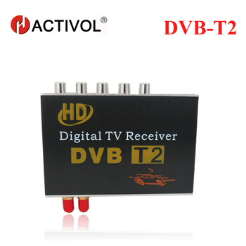 free shipping 2 antenna Car DVB-T2 TV box supporting high-speed up to 130KM/H, with two tuners for Russian,Europe,Southeast Asia