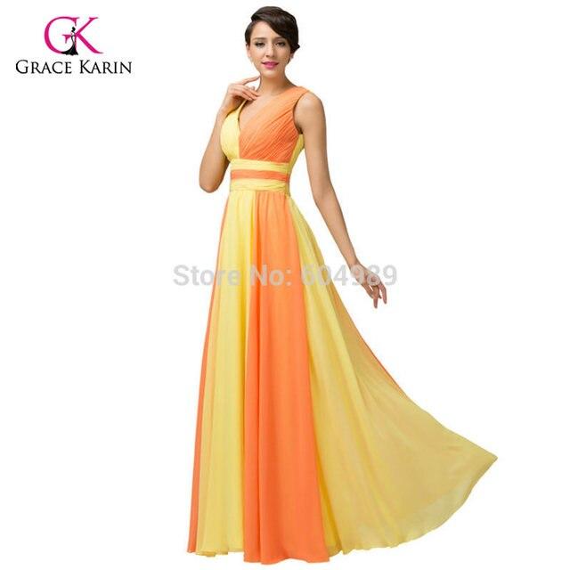 Organge Elegant Evening Gowns