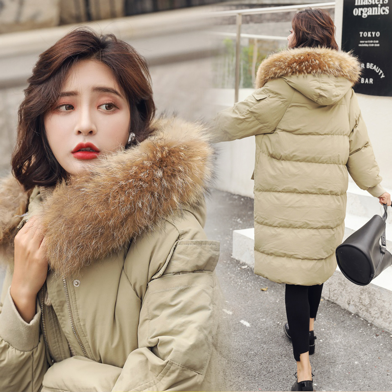 bread suit female 2018 new Korean  thickened cotton-padded jacket student loose cotton suit medium long warm coat