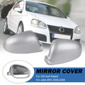 Пара серебряного зеркала заднего вида для VW для Golf Rabbit для Jetta MK5 2006 2007 2008 2009 автозапчасти для замены