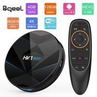 Bqeel HK1MINI+ Android 9.0 Smart TV BOX RK3318 Quad Core 4G 128G 4K Android TV box WIFI BT4.0 Set Top Box Google Play Store