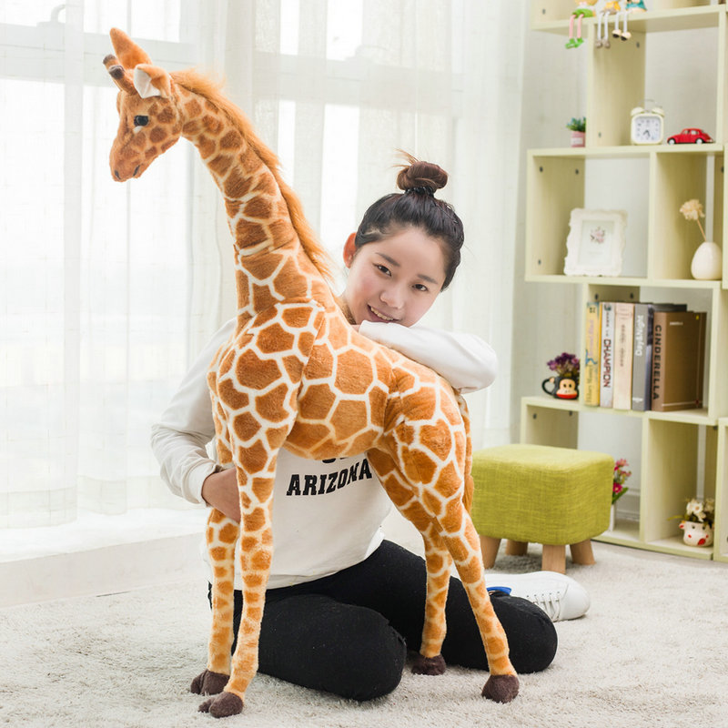 1pc 60-120cm Simulation Cute Plush Giraffe Toys Cute Stuffed Animal Dolls Soft Giraffe Doll High Quality Birthday Gift Kids Toy simulation wildlife stuffed animal toys pelican doll toucan plush toy rare birds dolls gifts