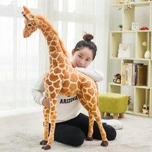 1pc 60-120cm Simulation Cute Plush Giraffe Toys Cute Stuffed Animal Dolls Soft Giraffe Doll High Quality Birthday Gift Kids Toy