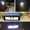2pcs Black 20 LED Solar Power PIR Motion Sensor Wall Light Wireless Outdoor Wall/Yard Outside Waterproof Garden Lamp