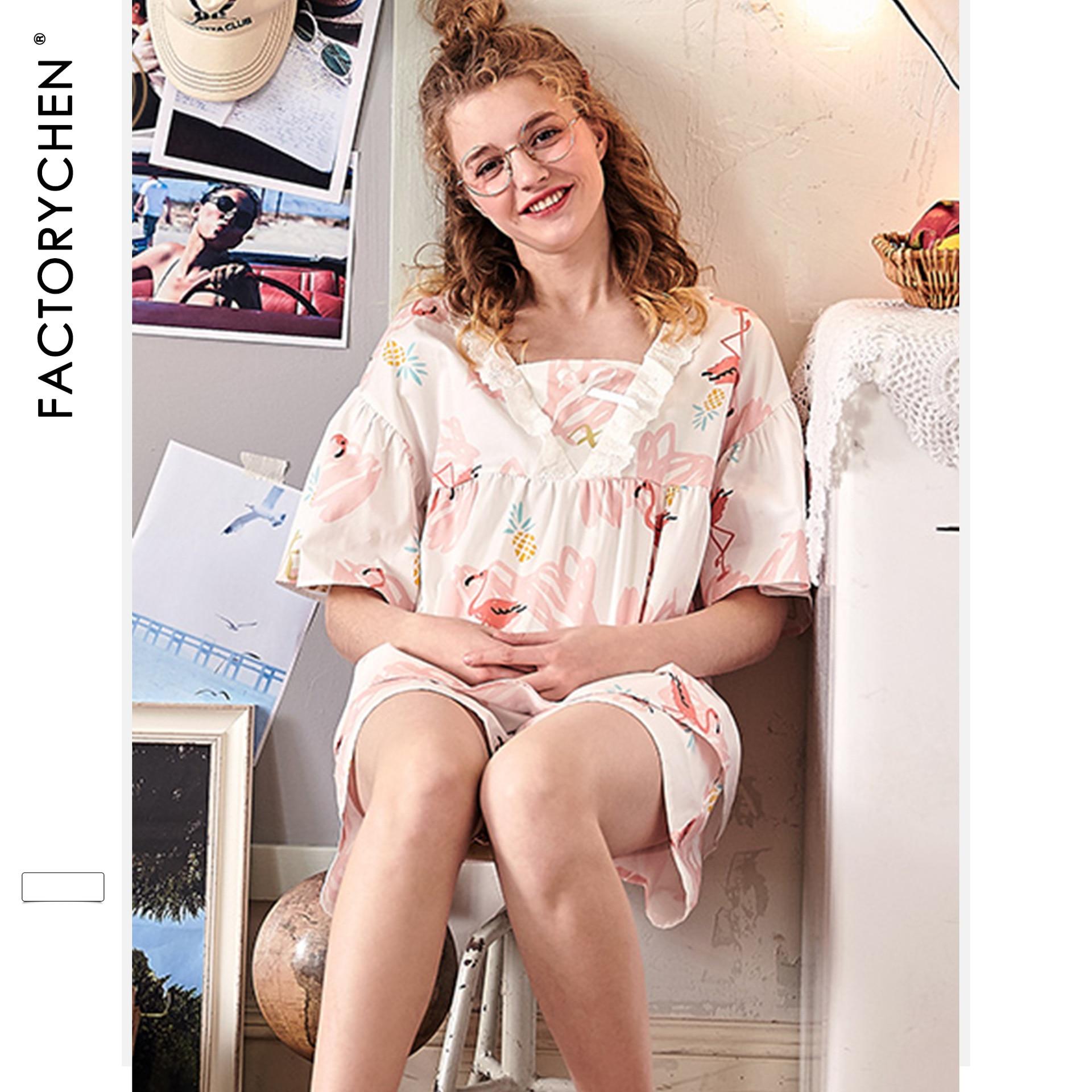 Image 5 - Свободные женские пижамы с коротким рукавом и рисунком фламинго, летние шорты, пижама с v образным вырезом, пижама с принтом, домашняя одежда для сна, комплект из 2 предметов-in Комплекты пижам from Нижнее белье и пижамы on AliExpress - 11.11_Double 11_Singles' Day