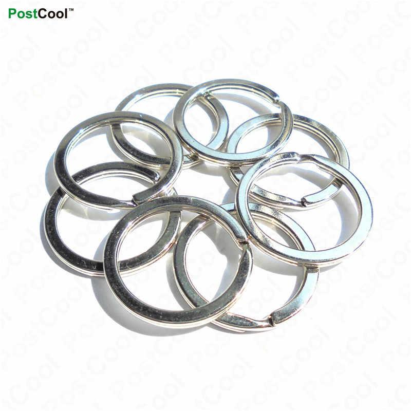 Postcool 1.8x24.5 2.0x30mm metal porta-chaves anéis rachados unissex chaveiro chaveiro acessórios moda jóias