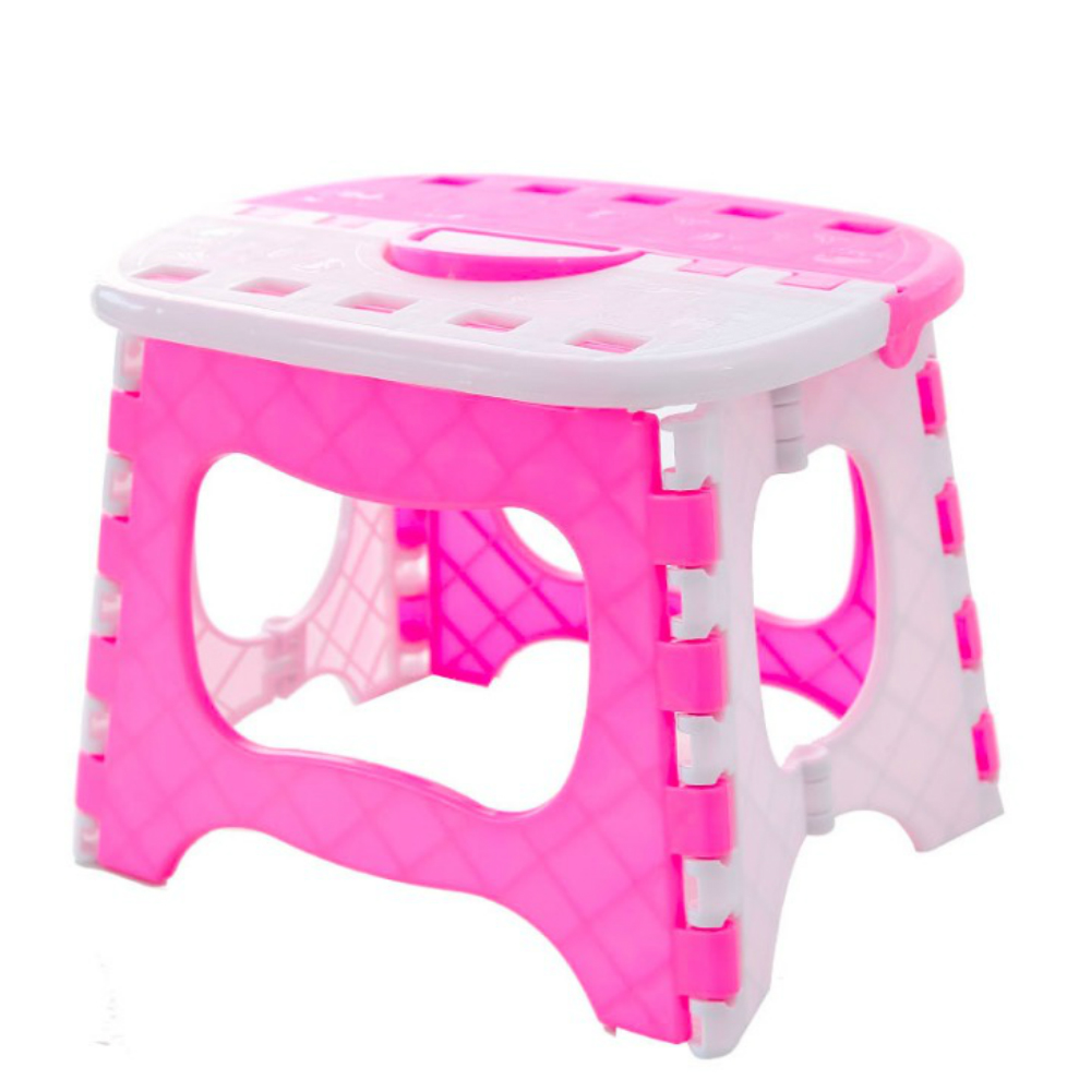 Cool Us 9 72 46 Off Portable Plastic Folding Chair Taburete Plegable Stool For Living Room Outdoor Camping Fishing Blue Pink Free Shipping In Stools Ocoug Best Dining Table And Chair Ideas Images Ocougorg