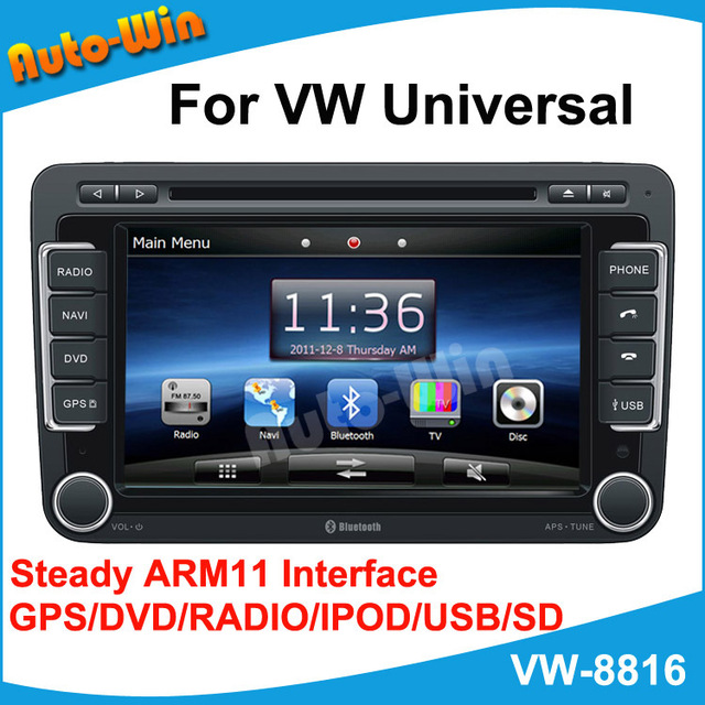 """7""""Car DVD GPS for Volkswagen Universal with Steady ARM11 Interface GPS/DVD/RADIO/IPOD/USB/SD/PIP"""