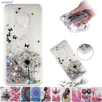 Soft Cover for Samsung Galaxy M30 M 30 Glitter Bling Liquid Quicksand Phone Case 30M SM-M305F/DS SM-M305FN/DS Silicone TPU Coque
