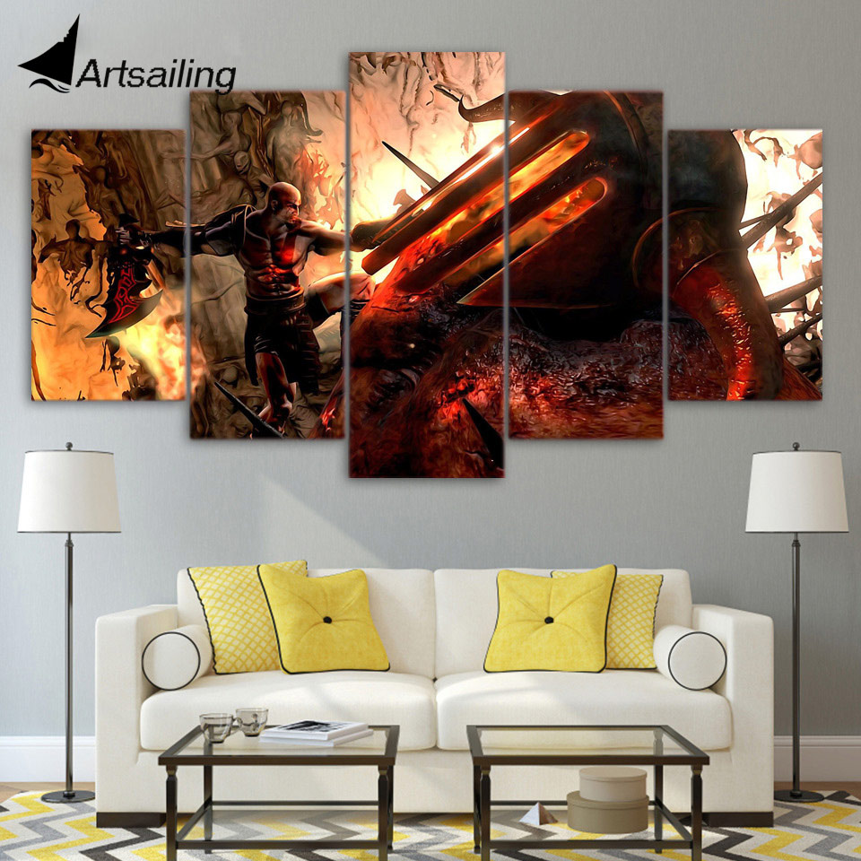 HD Printed god of war kratos Painting childrens room decor print poster picture canvas Free shipping/ny-4107