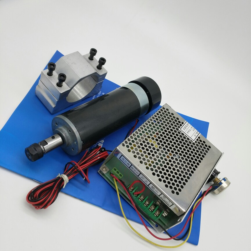 New spindle air cooled motor 600W 110V DC motor  8000 rev / min with power take bracket new products with new export spindle power 900 w dc motor spindle motor 220 v 2600 rpm speed