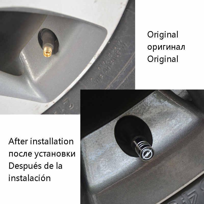 Válvulas automáticas para neumático, tapa de aire para coche, funda de diseño para Opel Astra H G, insignia para corsa Astra Antara Meriva Zafira, diseño de coche