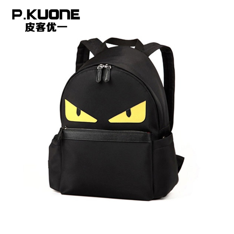 P.KUONE Genuine Leather 2016 new fashion high quality messenger travel backpacks man luxury bags waterproof laptop school bags new style school bags for boys