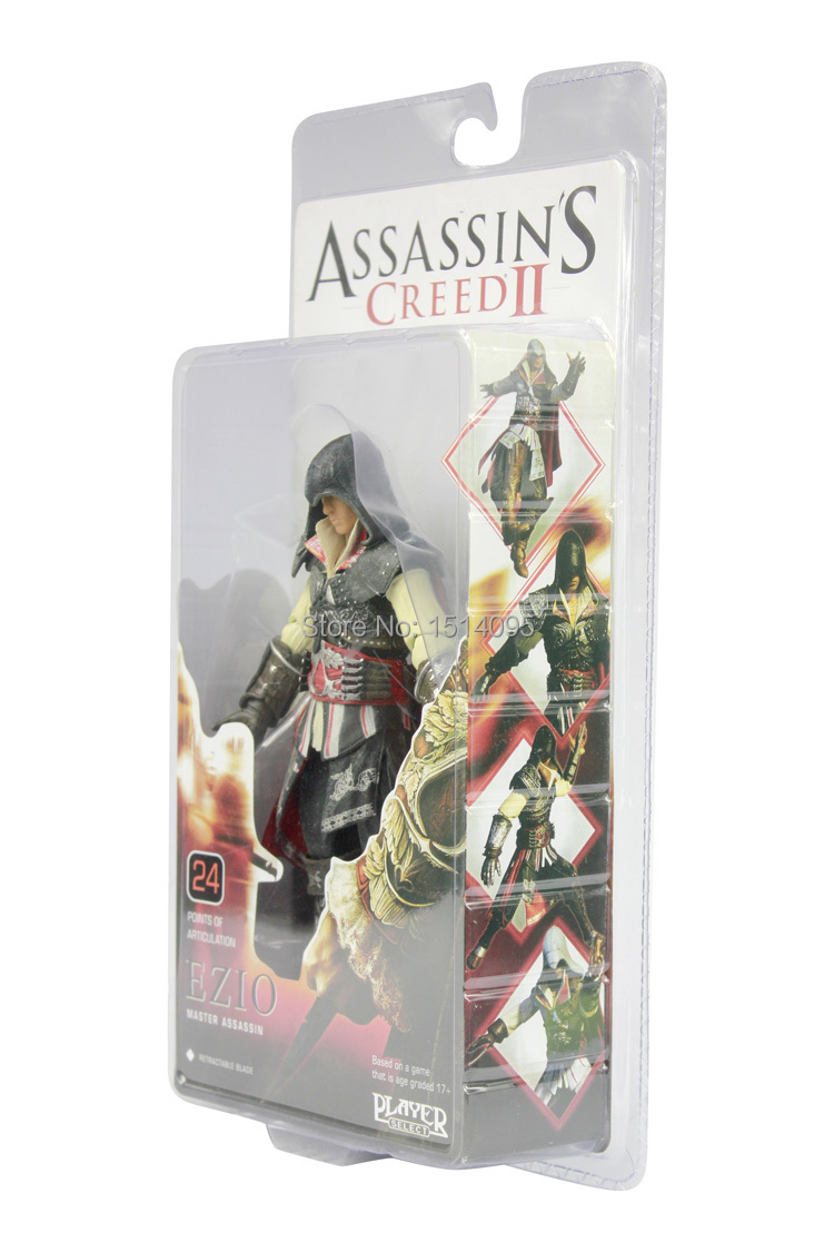19cm Assassin's Creed Ezio Master Assassin  PVC Model Toys Action Figure Collection For Christmas Gifts AC010 free shipping hello kitty toys kitty cat fruit style pvc action figure model toys dolls 12pcs set christmas gifts ktfg010
