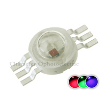20pcs 6pin 3W RGB Color High Power LED Chip Light (RED+BLUE+ GREEN) for led lamp