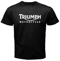 New Men S T Shirt TRIUMPH MOTORCYCLE Classic Logo Race Black Basic Tee Fashion Printed 100