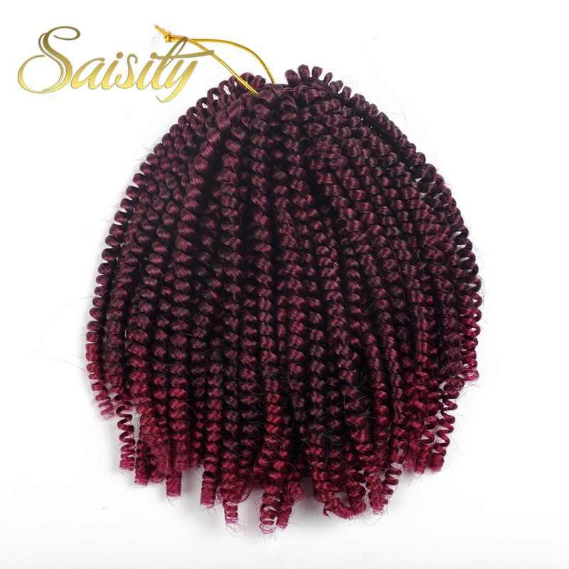Saisity Ombre Наращивание волос крючком весна Твист Синтетические косички для наращивания плетение волос Ямайка отскок пушистый твист