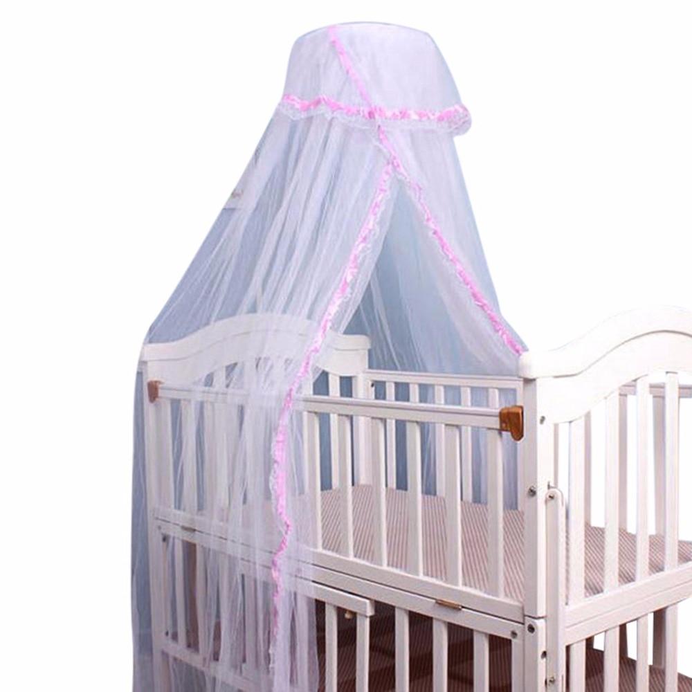 Baby Moskitonetz Krippe Netting Tragbare Moskitonetz Baby Infant Baldachin Runde Dome Betthimmel Baby Moskitonetz Für Krippen Geschickte Herstellung Mutter & Kinder