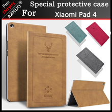 Smart Tablet Fundas For Xiaomi Mi Pad 4 8.0 Inch PU Leather Magnet Sleep Cover Stand Case PC For Mipad 4 Protective Cover Coque стоимость