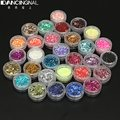 30 Colors Nail Art Beauty Hexagon Acrylic Glitter Shimmer Powder Dust For Fingernail DIY Tools Decoration Tips Set