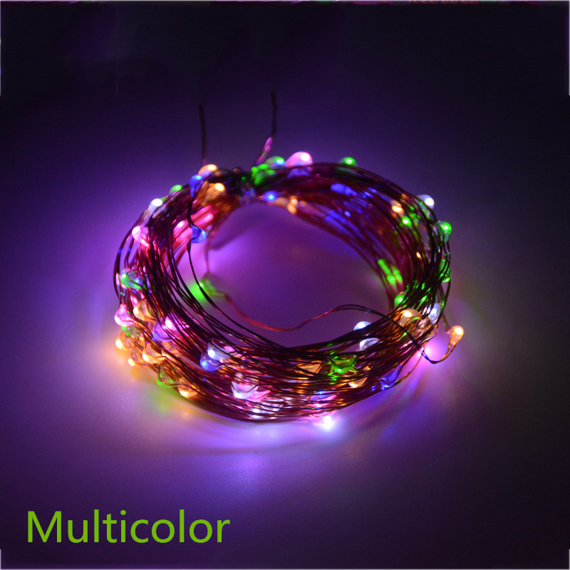 10M 100 LED Solar Power LED String Fairy Light Julfest Garden Yard - Festlig belysning - Foto 2