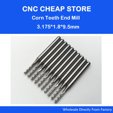 10pcs Carbide Micro Drill Bits 3.175mm x2.25mm x 12mm CNC PCB Dremel 1//8 Shank