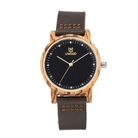 Fashion Retro Leather Bamboo Wooden Watch Woman Quartz With Genuine Cowhide Leather Band Casual Watches Creative