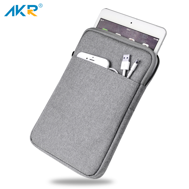 Shockproof Tablet Sleeve Pouch Case for iPad 2017 mini 2 3 4 iPad Air 1/2 Pro 9.7 inch Cover thick AKR 2018 icarer brand new for ipad pro 9 7 inch case sleeve grey protective carrying bag pouch for ipad pro 9 7 inch case cover fundas