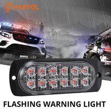 Partol 12 LEDs Car Strobe Flashing Warning Light Firemen Police Fog Emergency lights Truck Auto Roof Lamp Red Blue White Yellow(China)