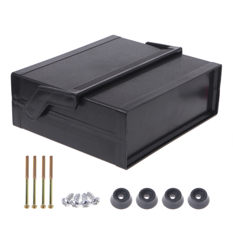 OOTDTY 200x175x70mm Black Waterproof Plastic Electronic Enclosure Project Box High Quality 4pcs a lot diy plastic enclosure for electronic handheld led junction box abs housing control box waterproof case 238 134 50mm
