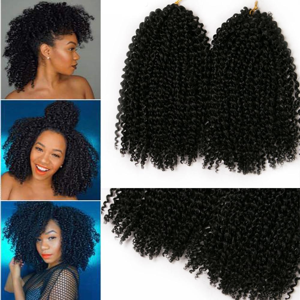 crochet curly black