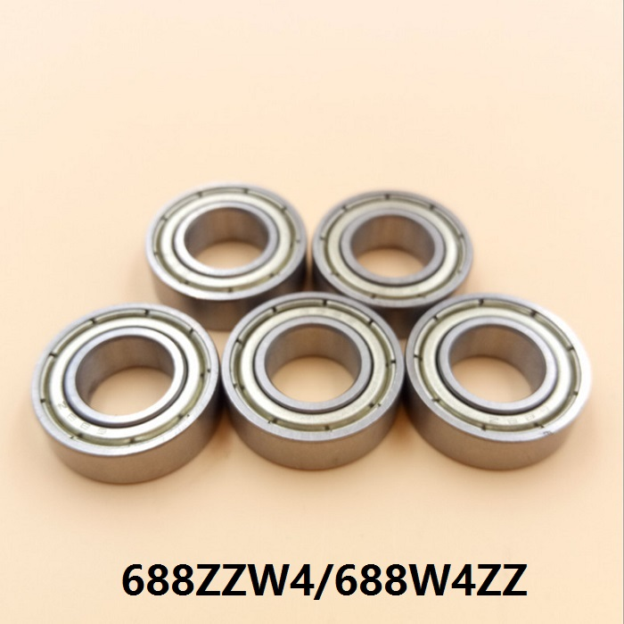 100pcs lot 688W4ZZ 688ZZW4 ball bearing 8x16x4 mm deep groove ball bearings Miniature Mini bearing 8