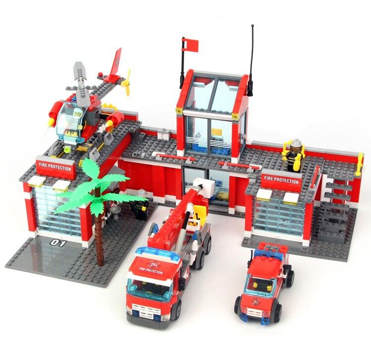 Modelle gebäude spielzeug 8051 Stadt Feuer Station 774 stücke Bausteine kompatibel mit lego city sammeln & seltenes