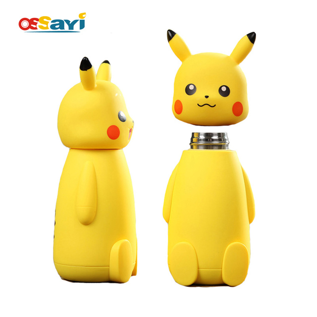a09346587e7 Pokemon Pikachu Vacuum Cup Stainless Steel Thermo Mug Insulated Cartoon  Vacuum Flasks Thermoses Travel Drink Water