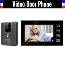 Big discount 7 Inch LCD Monitor Door Video Phone Kit Video Doorbell Intercom System Waterproof Night Vision 1 Camera 1 Monitor for villa home