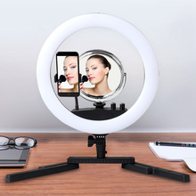 GSKAIWEN 14 LED Ring Light Annular Lamp Bi-color 3200K-5500K CRI90+ Lamps for Photography Dimmable Portrait