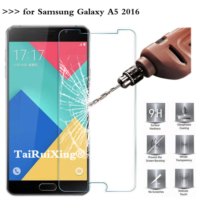 9H 2.5D 0.26 mm Tempered Glass Screen Protector For <font><b>Samsung</b></font> <font><b>Galaxy</b></font> <font><b>A5</b></font> 2016 A <font><b>510</b></font> Protective Film For <font><b>Samsung</b></font> <font><b>Galaxy</b></font> A510 * image