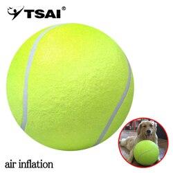 TSAI 24 cm Palla Da Tennis Gigante Gonfiaggio Ad Aria Palla Da Tennis Sport All'aria Aperta Giocattolo Coperta Firma Mega Jumbo Giocattolo Per Bambini Palla