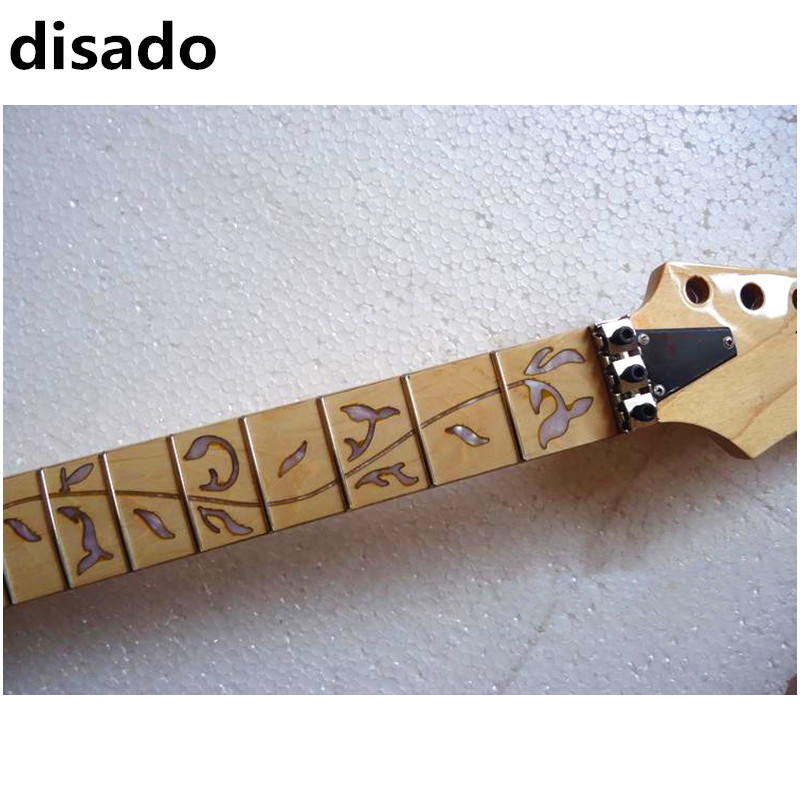 disado 24 Frets inlay Tree of Life Electric Guitar maple Neck Wholesale Guitar Parts guitarra musical