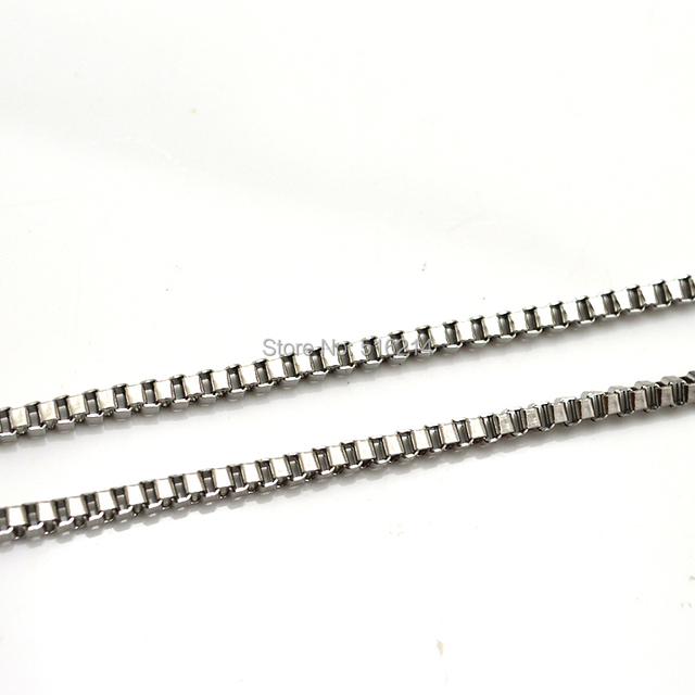 Free Shipping Wholesale 2.5mm 316L Stainless Steel Vintage Necklace, Never Fade Chain  Men & Women Fashion Jewelry SS007N