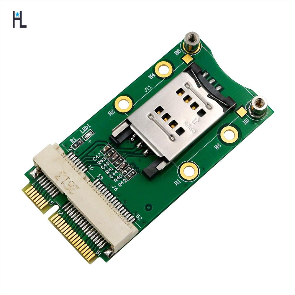 Mini PCI-E Adapter With SIM Card Slot For 3G/4G ,WWAN LTE ,GPS Card,Mini PCI-e Adapter