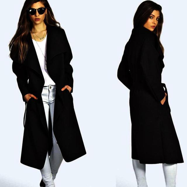 CharmDemon New Arrival Women's Slim Long Coat Trench Windbreaker Outwear Cardigan or27