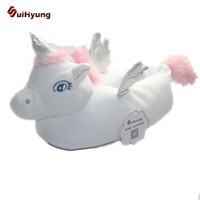 SuiHyung Lovely Cartoon Home Slippers For Men Women Warm Soft PP Cotton Plush Floor S Wing