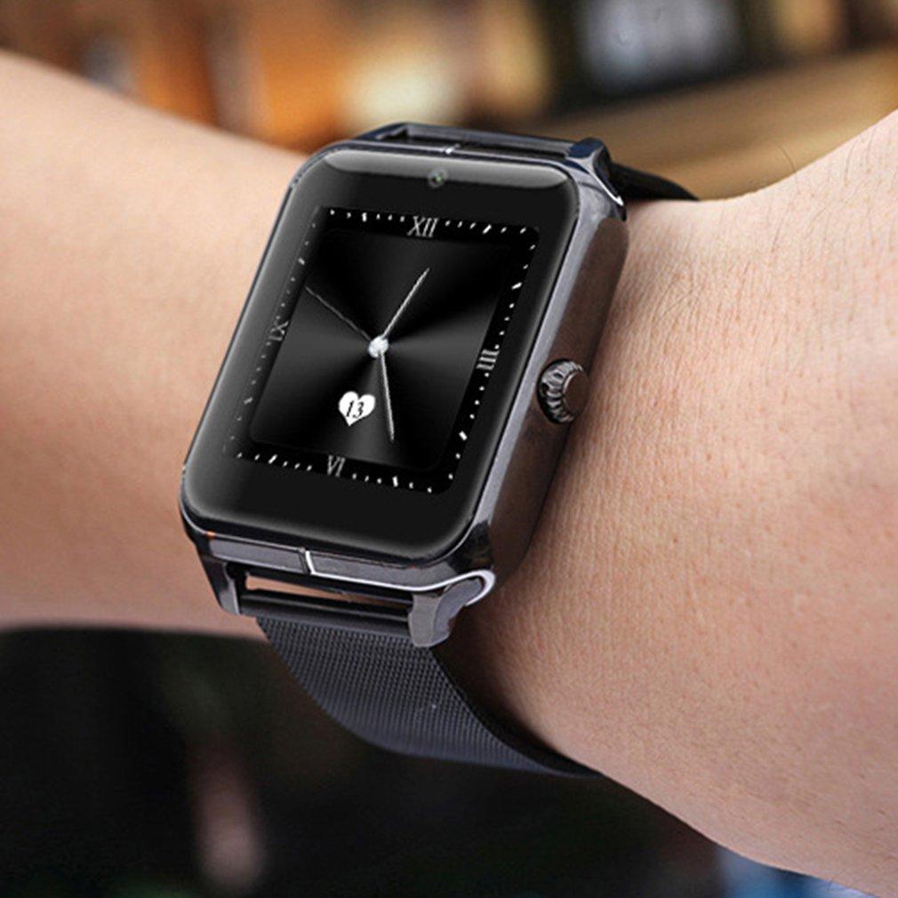 Z50 Smartband Bluetooth montre sommeil moniteur podomètre Sport montres Support carte SIM maille acier montre-bracelet horloge femmes hommes cadeau