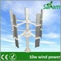 10 w generadores de turbina de viento vertical 12 v 5 palas de rotor de energía