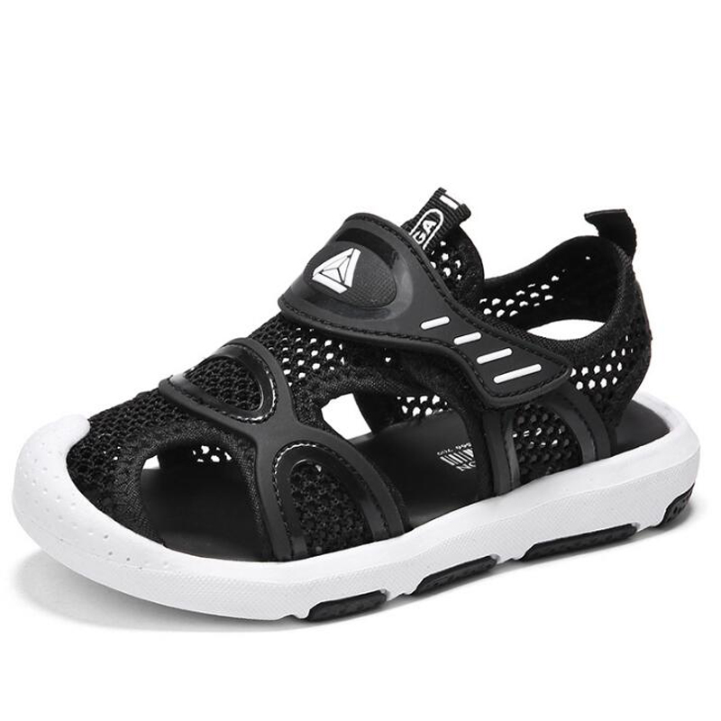 New 2018 summer boys sandals mesh children sport sandals fashion hook&loop non-slip kids shoes for 3-14 years old