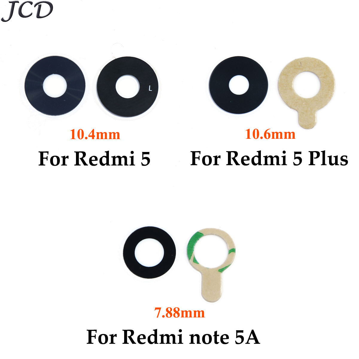 Glass-Lens Cover Note Back-Camera 5plus Xiaomi Redmi Phone Housing-Spare-Parts JCD